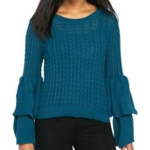 Devlin 'Molly' blue knit tiered sweater